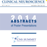 Supplement to May–June 2015 Issue: CNS Summit 2014 Abstracts of Poster Presentations
